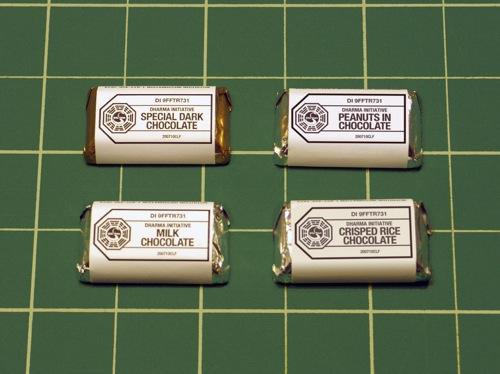 4 varieties of DI mini chocolates