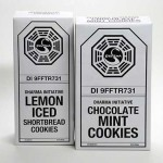 DHARMA Initiative Chocolate Mint and Lemon Iced Shortbread Cookies