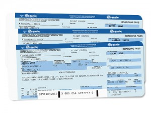 Oceanic Airlines boarding passes