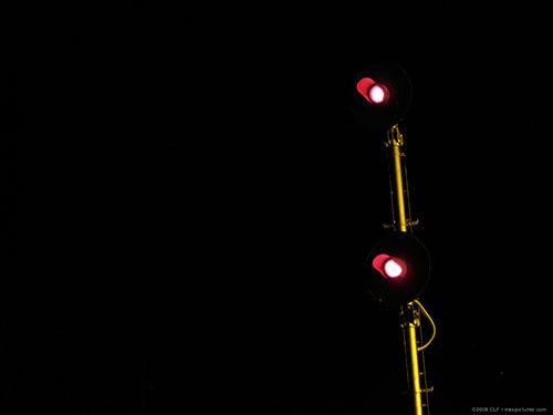 Track signals at night