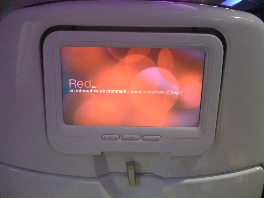 Red, in-flight entertainment