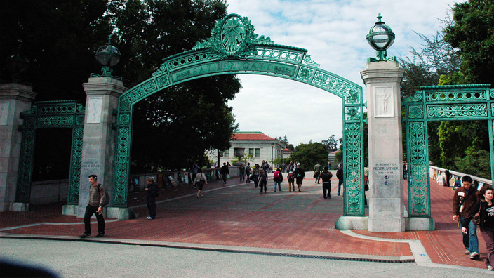 Sather Gate UC Berkeley photo by Wonderlane