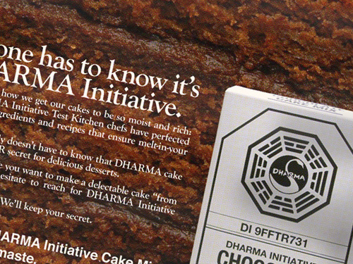 DHARMA Initiative Cake Mix ad