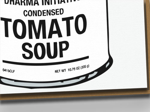 DHARMA Initiative Tomato Soup Can